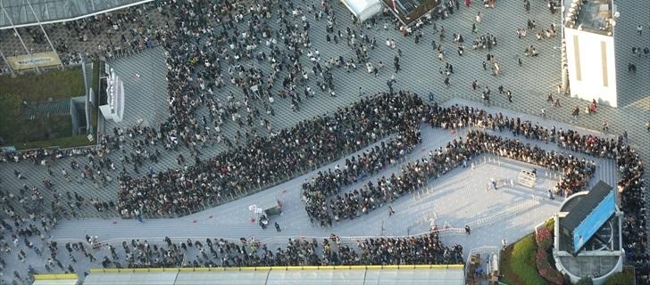 東京ドームのグッズ待ちの様子です 2017.12.24 15:00